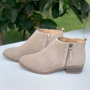 Memory Foam Perforated Shoe Women's Boots Booties